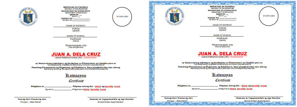 Certificate of completion and diploma templates for grades 6 10 certificate of completion and diploma templates yadclub Images