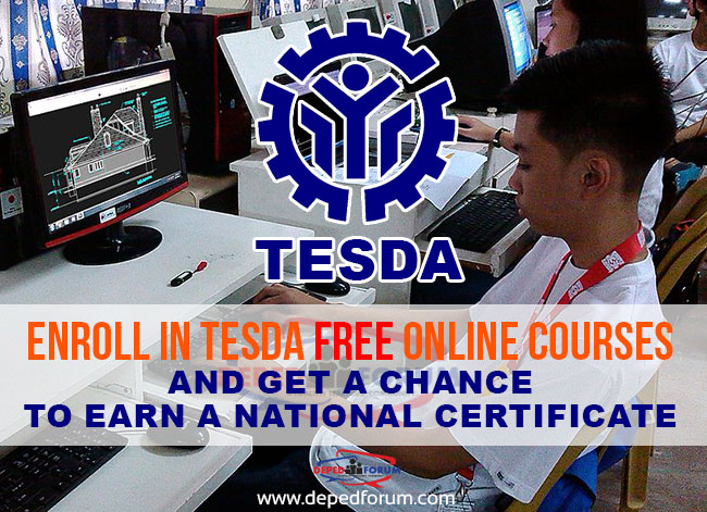 Enroll in TESDA Free Online Courses