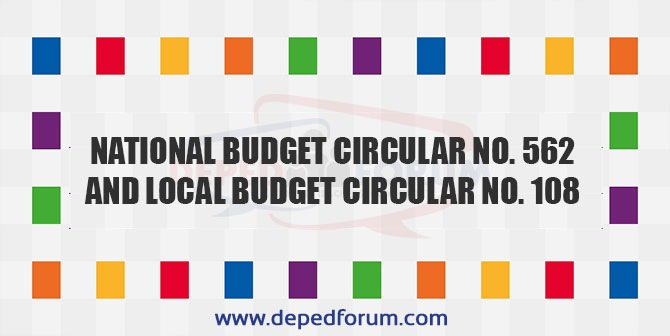 National Budget Circular No. 562