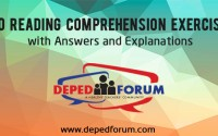 Reading Comprehension Exercises