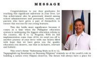 2016 Graduation Message of Secretary Br. Armin Luistro FSC