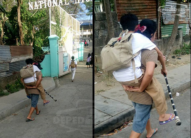 Patrick Nobleza Mother-carries-son-on-her-back