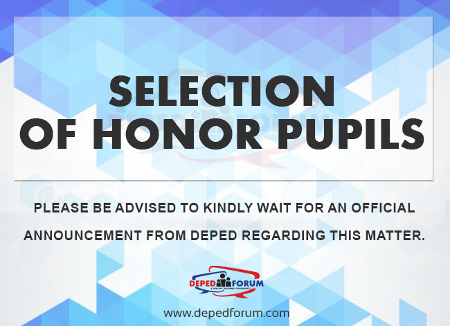 Selection-of-Honor-Pupils-update
