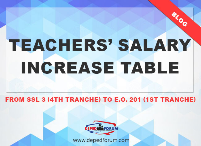 Teachers' Salary Increase