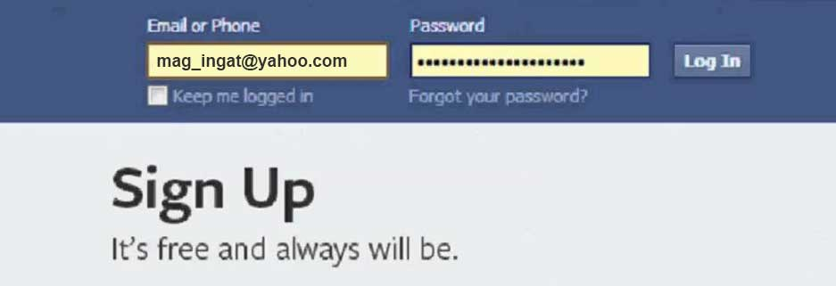 facebook auto save password