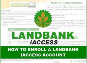 How to Enroll a Landbank iAccess Account