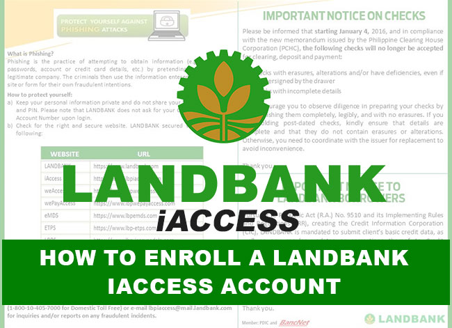 How to Enroll a Landbank iAccess Account