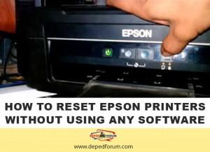 Reset Epson Printers