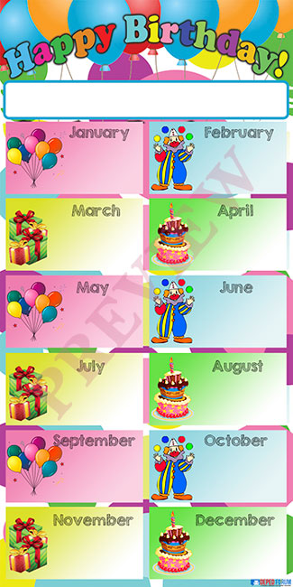 Monthly Birthday Celebrants Tarpaulin Layout