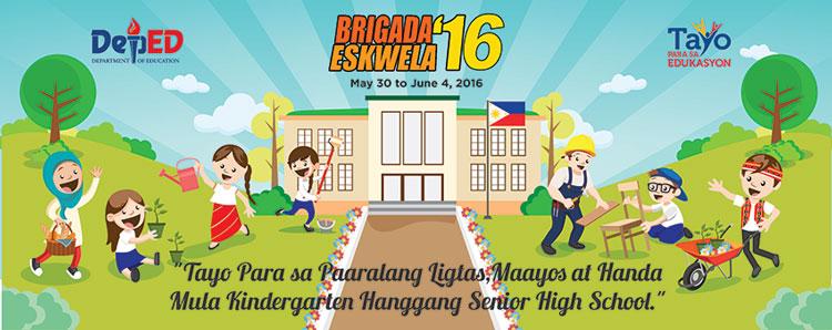Brigada Eskwela 2016 Tarpaulin Layout DepEd Forum