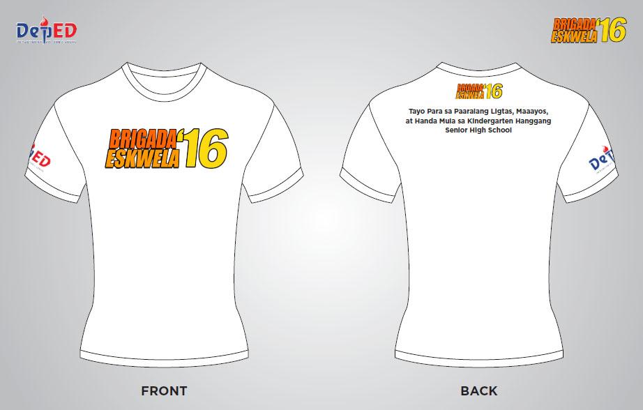 Brigada Eskwela 2016 t-shirt design DepEd Forum