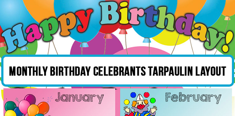 Birthday Celebrants Tarpaulin Layout