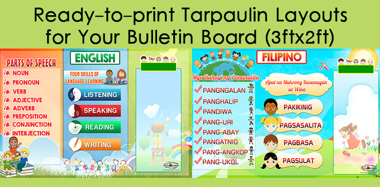 Tarpaulin Layouts for Bulletin Board