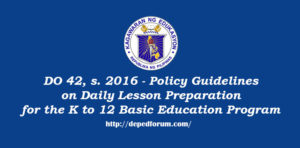 Daily Lesson Preparation for the K to 12