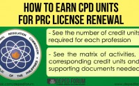 how to earn CPD units for PRC license renewal.