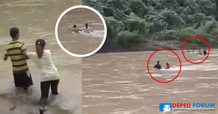 Mountain-Teachers-Dangerously-Cross-a-River