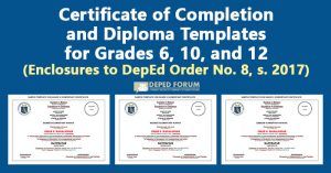 Certificate of Completion and Diploma