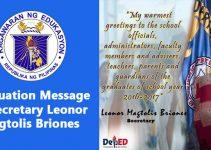 Graduation Message of Secretary Leonor Magtolis Briones