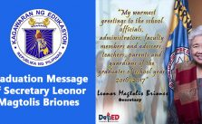 Graduation Message of Secretary Leonor Magtolis Briones