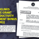 guidelines pei bonus 2018